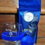 Tasse et infuseur - bleu et thé